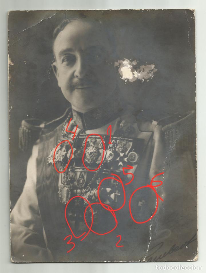 Fotografía antigua: Fotografía Kaulak ¿ Jesús Bernaldo marques de Quirós ? Condecoración Alfonso XIII Isabel naval - Foto 6 - 243938715