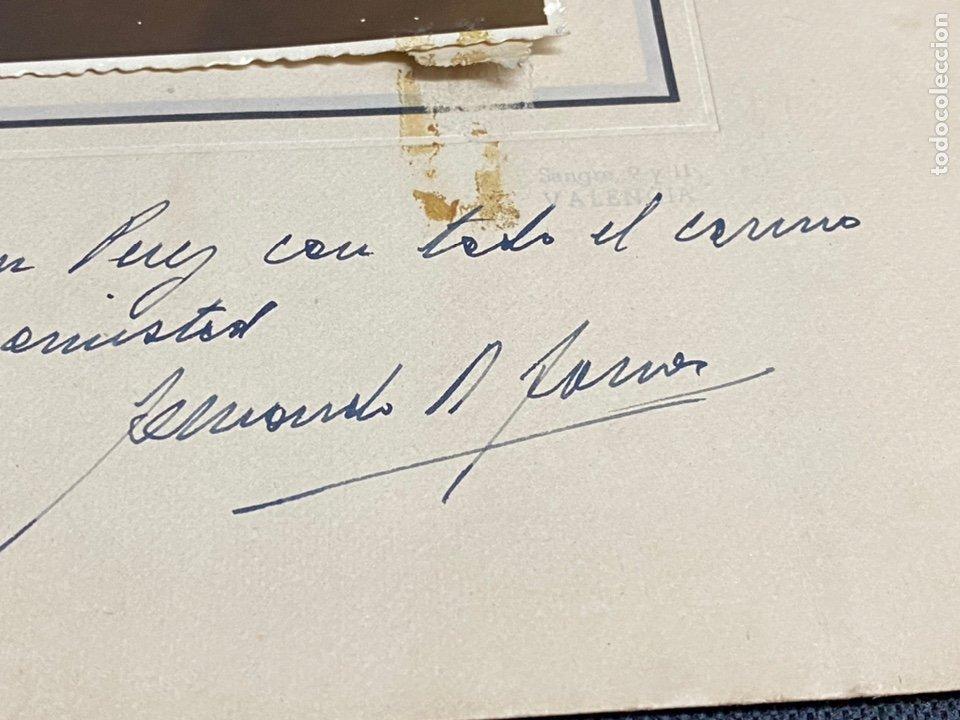 Fotografía antigua: FERNANDO RODRÍGUEZ FORNOS. FOTOGRAFÍA CON DEDICATORIA Y FIRMA. SALAMANCA-VALENCIA. 1950 - Foto 3 - 244556745