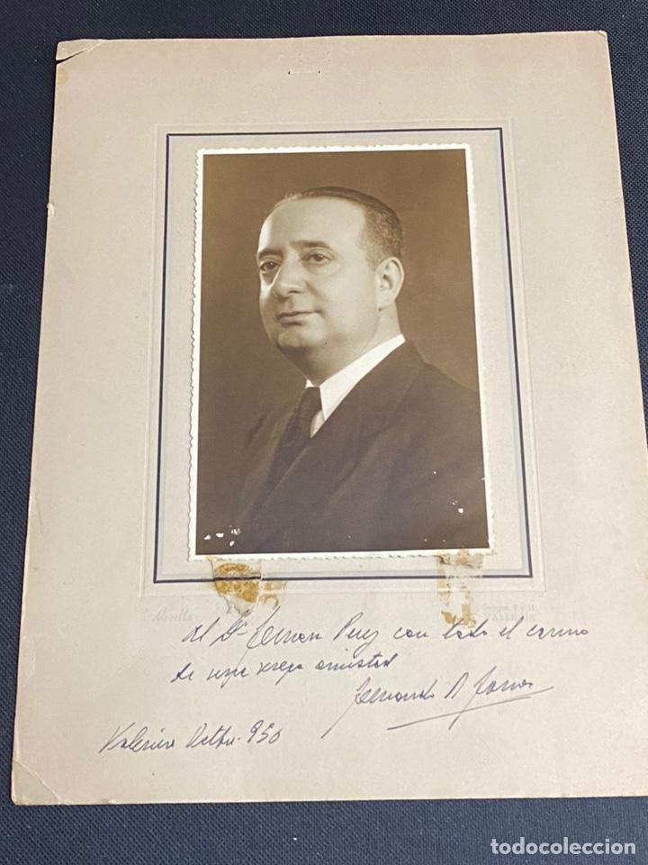 FERNANDO RODRÍGUEZ FORNOS. FOTOGRAFÍA CON DEDICATORIA Y FIRMA. SALAMANCA-VALENCIA. 1950 (Fotografía Antigua - Fotomecánica)