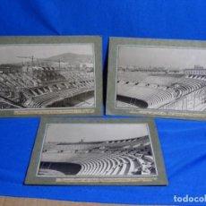 Fotografía antigua: 3 FOTOGRAFÍAS DEL ESTADIO NOU CAMP EN CONSTRUCCIÓN.1 MARZO 1957.FOTO SIMO GILI.. Lote 244682395