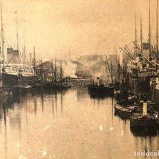 Fotografía antigua: CANADA DOCK LIVERPOOL. SS. CUFIC. WHITE STAR LINE. 1890 H. FOTOTIPIA DE GRAN FORMATO.. Lote 245543615