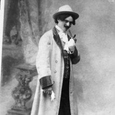 Fotografía antigua: ANTIGUO NEGATIVO CLICHÉ DE ACTOR SOBRE 1930. FOTÓGRAFO CANDIDO ANSEDE SALAMANCA. 9X12 CM. Lote 247309720