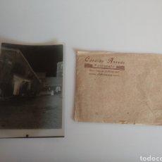 Fotografía antigua: ANTIGUO CLICHÉ NEGATIVO POBLACIÓN A IDENTIFICAR. FOTÓGRAFO CANDIDO ANSEDE SALAMANCA.. Lote 247338280