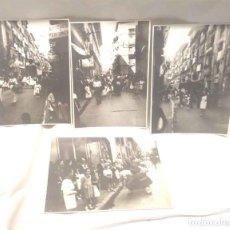 Fotografía antigua: SAN FERMINES PAMPLONA 4 FOTOGRAFIAS GIGANTES, CABEZUDOS, KILIKIS Y ZALDIKOS, AÑOS 40. Lote 247817805