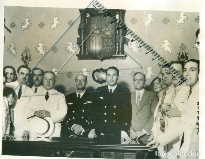 VUELO SEVILLA-CUBA. AVION CUATRO VIENTOS. BARBERÁN Y COLLAR .DESAPARECIDOS EN JUNIO 1933. (Fotografía Antigua - Fotomecánica)