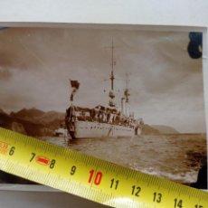 Fotografía antigua: FOTOGRAFIA DEL CRUCERO CANARIAS EN LA BAHIA DE SANTA CRUZ DE TENERIFE.GUERRA CIVIL.FRANCO.CANARIAS. Lote 250152735