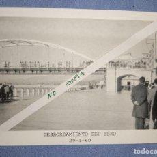 Fotografía antigua: ANTIGUA FOTOGRAFIA INEDITA DE TORTOSA DE LA RIADA/DESBORDAMIENTO DEL RIO EBRO DEL 29-1-60. Lote 252183055