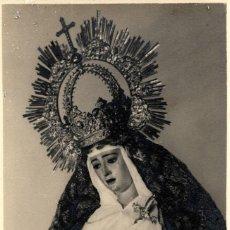 Fotografía antigua: SEVILLA-SEMANA SANTA-LA VIRGEN DEL SOCORRO ANTES DE LA REFORMA DE BUIZA-FOTO ALBARRAN. Lote 252740135