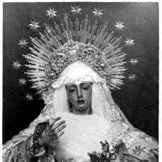 Fotografía antigua: SEVILLA-SEMANA SANTA-LA VIRGEN DE LA ESPERANZA TRINIDAD-TAMAÑO 17X11,50. Lote 253034615