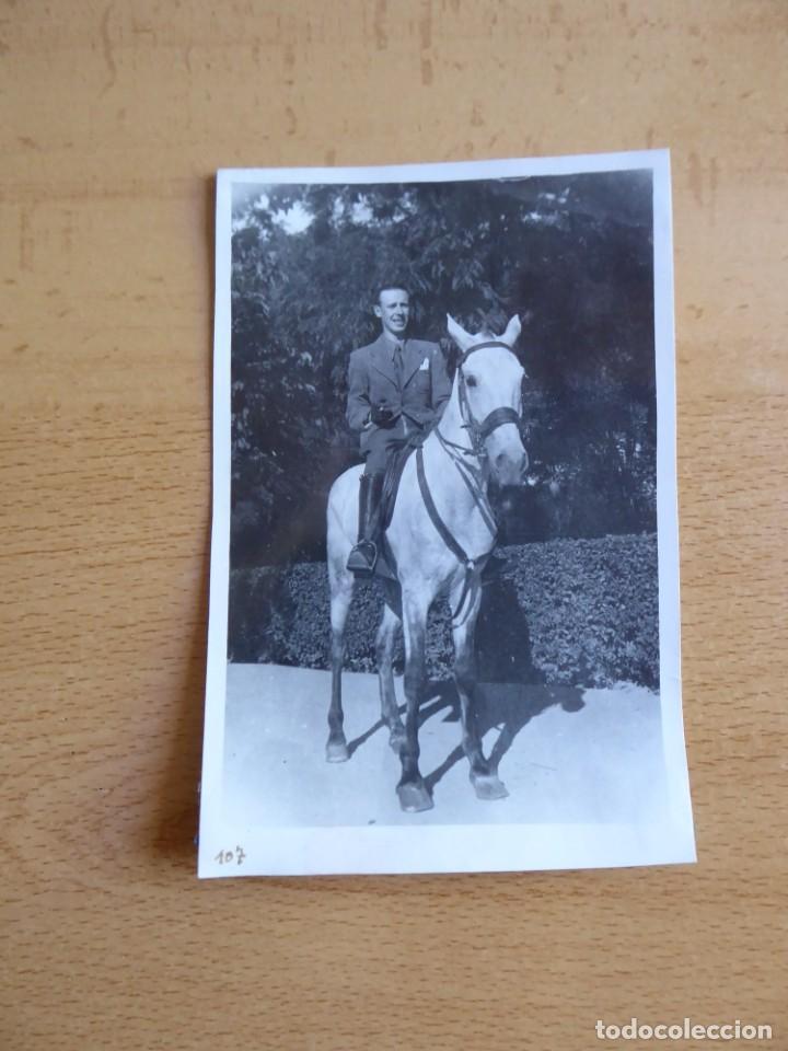 Fotografía antigua: Fotografía señor caballo. - Foto 2 - 253416020