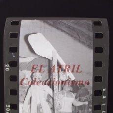 Fotografía antigua: VALENCIA - FALLAS - 6 CLICHES NEGATIVOS DE 35 MM EN CELULOIDE. Lote 253428695