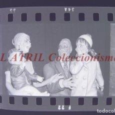 Fotografía antigua: VALENCIA - FALLAS - 6 CLICHES NEGATIVOS DE 35 MM EN CELULOIDE. Lote 253429680