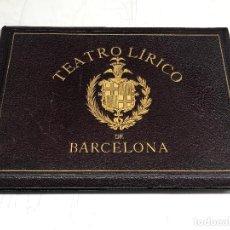 Fotografía antigua: TEATRO LÍRICO DE BARCELONA, 1888. DE EVARISTO ARNÚS, CON 12 FOTOTIPIAS. 24X34 CM.. Lote 254625870