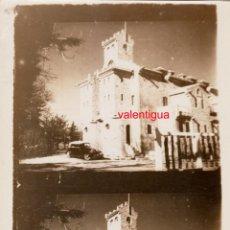 Fotografía antigua: PRECIOSA ANTIGUA FOTO. ALQUERÍA MASÍA PALACETE CASONA CASTILLO EN EL CAMPO COCHE AÑOS 20 FF. Lote 254681085