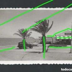 Fotografía antigua: RESTAURANTE MIRAMAR, SUCURSAL DE LA FONDA NUEVA. SANTIAGO DE LA RIBERA, MURCIA. AÑOS 50. BO. Lote 254745770