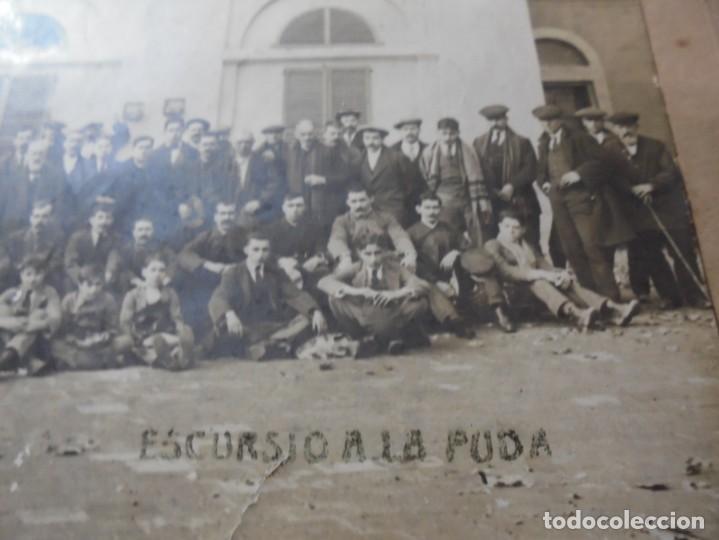 Fotografía antigua: magnifica antigua fotografia esparraguera escursion a la puda - Foto 2 - 254986455