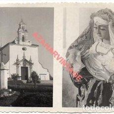 Photographie ancienne: ANTIGUA FOTOGRAFIA DE LA VIRGEN DE LA SOLEDAD, CANTILLANA, SEVILLA, 14X9 CMS. Lote 257630245