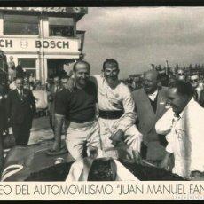 Fotografía antigua: 209 - JUAN MANUEL FANGIO - MUSEO PHOTO PUBLICITARIA 21X15CM 1980'. Lote 257861060