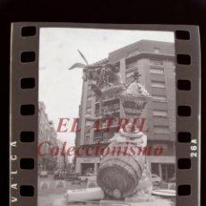 Fotografia antiga: VALENCIA - FALLAS - 6 ANTIGUOS CLICHES NEGATIVOS DE 35 MM EN CELULOIDE. Lote 262929325