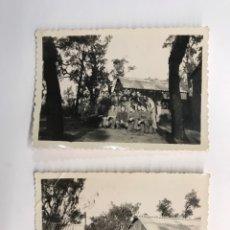 Fotografía antigua: SANTA CRISTINA DE ARO, GERONA (2) FOTOGRAFÍA DE LOS BARRACONES MILITARES EN 1943. Lote 262986470