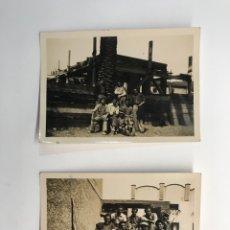 Fotografía antigua: L'HOSPITALET BARCELONA 2 FOTOGRAFÍAS ABRIL DE 1937 TRABAJADORES DÍAS PREVIOS AL INICIO DE LA GUERRA. Lote 262987085