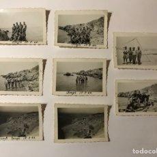Fotografia antica: BENZU CEUTA MILITAR (8) FOTOGRAFÍAS CAMPAMENTO Y FORTIN, SOLDADOS ESPAÑOLES (A.1940). Lote 263049870