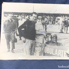 Fotografía antigua: FOTO CARRERA COCHE CIRO CAIRES EMILIO ZAMBELO GIUSEPPE PEREGO BRASIL INTERLAGOS 18X24CMS. Lote 263558340