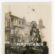 Fotografía antigua: FOTO ORIGINAL SEVILLA PASO RELIGIOSO PROCESION AÑO 1929. Lote 267604949
