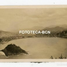 Fotografía antigua: FOTO ORIGINAL DONOSTIA SAN SEBASTIAN PLAYA DE LA CONCHA AÑO 1929. Lote 267607039