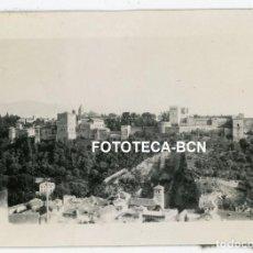 Fotografía antigua: FOTO ORIGINAL GRANADA VISTA DE LA ALHAMBRA MURALLA AÑO 1929. Lote 267607629
