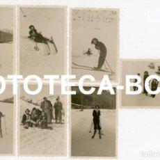 Fotografía antigua: LOTE 7 FOTOS ORIGINALES ESTACION DE ESQUI LA MOLINA RIBES DE FRESER AÑO 1934. Lote 267644129