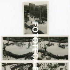 Fotografía antigua: LOTE 5 FOTOS ORIGINALES BARCELONA FIESTA 14 ABRIL PS GRACIA CON DIAGONAL AÑO 1935. Lote 267652239