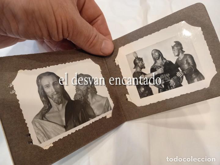 Fotografía antigua: CARTAGENA. Libreto 8 fotografías 8,5 x 6 ctms. Imágenes y pasos de Semana Santa. H. 1940 - Foto 2 - 268616479