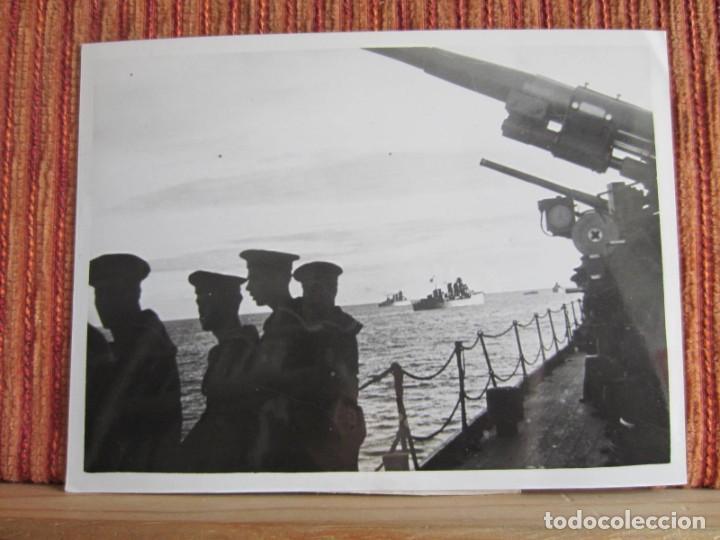 1939-GUERRA CIVIL ESPAÑA.FRANCO.BARCOS FLOTA FRANQUISTA EN TARRAGONA.FOTOGRAFÍA ORIGINAL (Fotografía Antigua - Fotomecánica)