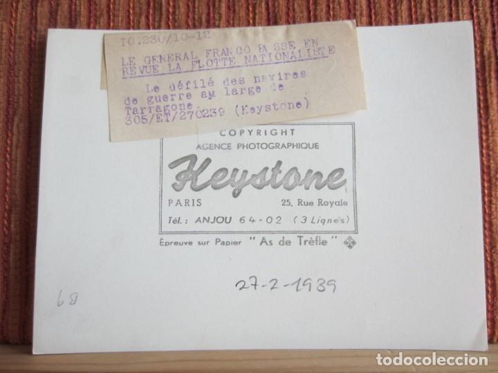 Fotografía antigua: 1939-GUERRA CIVIL ESPAÑA.FRANCO.BARCOS FLOTA FRANQUISTA EN TARRAGONA.FOTOGRAFÍA ORIGINAL - Foto 3 - 268618229