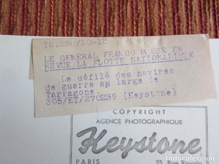 Fotografía antigua: 1939-GUERRA CIVIL ESPAÑA.FRANCO.BARCOS FLOTA FRANQUISTA EN TARRAGONA.FOTOGRAFÍA ORIGINAL - Foto 4 - 268618229