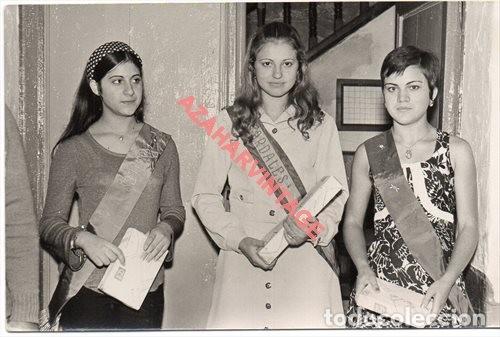 ARDALES, MALAGA, AÑOS 60, CHICA ELEGIDA REINA DE LAS FIESTAS, 14X9 CMS (Fotografía Antigua - Fotomecánica)