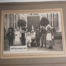 Fotografía antigua: FOTOGRAFÍA NIÑOS DISFRAZADOS DE CARNAVAL. Lote 269375923