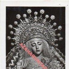 Fotografía antigua: SEMANA SANTA SEVILLA, ANTIGUA FOTOGRAFIA, VIRGEN DE LA ANGUSTIA, LOS ESTUDIANTES, 60X98MM. Lote 269465958