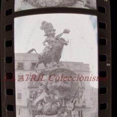 Fotografía antigua: VALENCIA - FALLAS - 6 ANTIGUOS CLICHES NEGATIVOS DE 35 MM EN CELULOIDE. Lote 269700123
