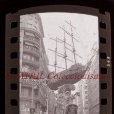 Fotografía antigua: VALENCIA - FALLAS - 7 ANTIGUOS CLICHES NEGATIVOS DE 35 MM EN CELULOIDE. Lote 269700303