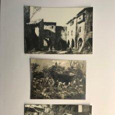 Fotografía antigua: NACIMIENTO (3) FOTOGRAFÍAS BELEN, 3 INSTANTÁNEAS DEL PORTAL DE BELEN.. (H.1960?). Lote 269978533
