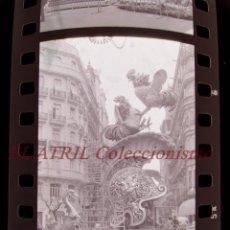 Fotografía antigua: VALENCIA - FALLAS - 6 ANTIGUOS CLICHES NEGATIVOS DE 35 MM EN CELULOIDE. Lote 270002143