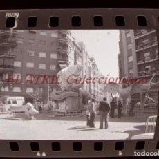 Fotografía antigua: VALENCIA - FALLAS - 42 ANTIGUOS CLICHES NEGATIVOS DE 35 MM EN CELULOIDE. Lote 270003763