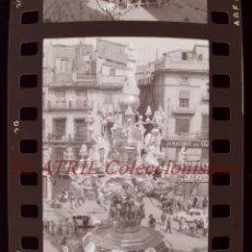 Fotografía antigua: VALENCIA - FALLAS - 10 ANTIGUOS CLICHES NEGATIVOS DE 35 MM EN CELULOIDE. Lote 270093373