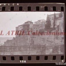Fotografia antica: CUENCA, VISTAS - 38 ANTIGUOS CLICHES NEGATIVOS DE 35 MM EN CELULOIDE, AÑO 1978. Lote 271140643