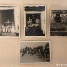 Fotografía antigua: SEMANA SANTA SEVILLA - HERMANDAD DE SANTA GENOVEVA - CRISTO CAUTIVO Y CRUZ DE GUÍA. Lote 272975023