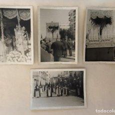 Fotografía antigua: SEMANA SANTA SEVILLA - HERMANDAD DE SANTA GENOVEVA - VIRGEN DE LAS MERCEDES Y CRUZ DE GUÍA. Lote 272976163