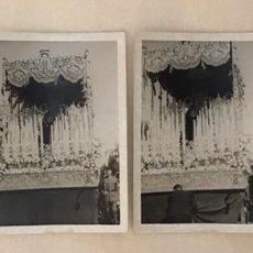 Fotografía antigua: SEMANA SANTA SEVILLA - HERMANDAD DE SANTA GENOVEVA - CRISTO CAUTIVO Y VIRGEN DE LAS MERCEDES. Lote 272977408