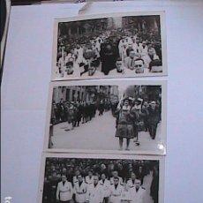 Photographie ancienne: LOTE 3 FOTOGRAFIAS ACTOS RELIGIOSOS AÑOS 50. SAN SEBASTIAN.. Lote 276285603